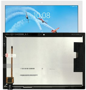 "Γνήσια Lenovo Tab4 Tab 4 TB-X304L X304F X304N Tablet 10.1"" Lcd Display Screen Οθόνη + Touch Screen Μηχανισμός Αφής White"