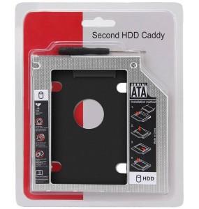 """Θήκη σκληρού δίσκου για DVDROM LAPTOP HDD & SSD 2.5"""" 12,7mm PT-242 HDD Caddy Sata 2.5"""" + ΔΩΡΟ ΚΑΤΣΑΒΙΔΙ"""